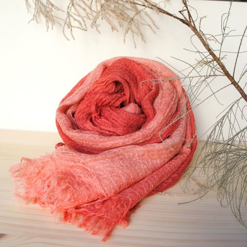 Pure dyed plant wool scarves - cobweb models