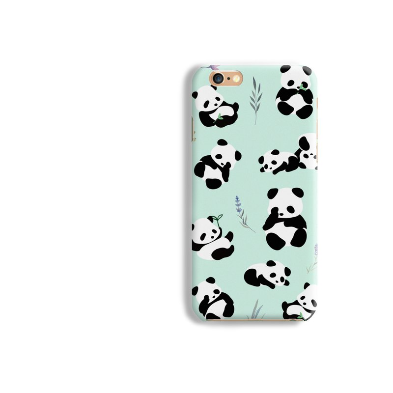 Panda Matt hard Phone Case iPhone X 8+ 7 6 S8 plus Samsung S8 S7 S6 LG