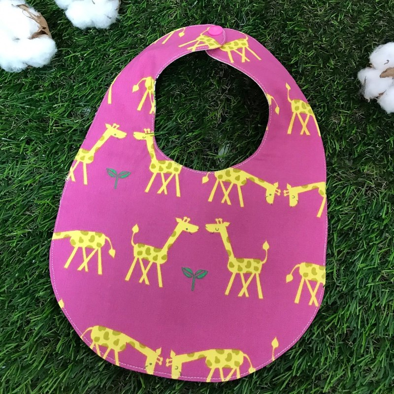 Double-sided bibs - giraffes