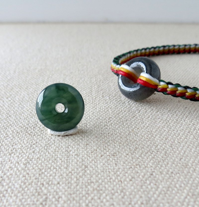 The birth year [safety, wishful] safe buckle emerald silk wax bracelet*FB08*[10 shares]