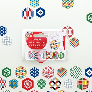 bande masking rolling sticker -- Japanese traditional pattern (Hexagon)