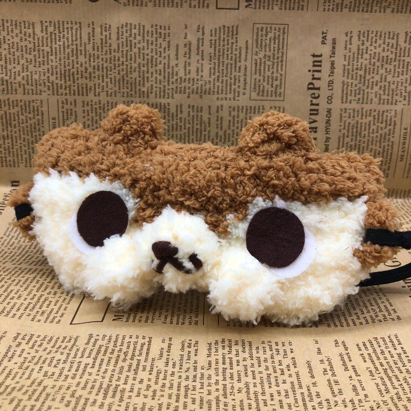 棉花糖動物眼罩-松鼠