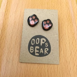 Oops bear  - Black Bear's paw earring
