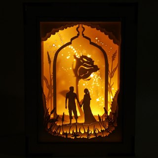 | Mini night lamp | paper art |  reunions after long times apart |