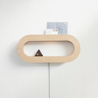 CAVE Oval Storage Wall Light │ Three-Stage Touch Dimming │ White Birch