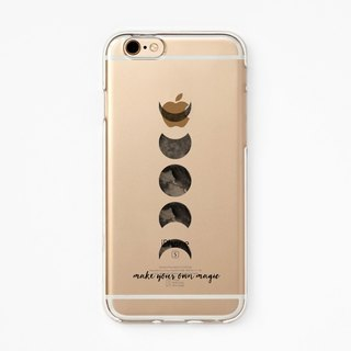 iPhone Rubber Case - Moon Magic - for iPhones - Clear Flexible Rubber case