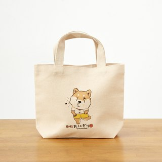 Shiba Inu Canvas Tote Bag - Natural Color 12oz