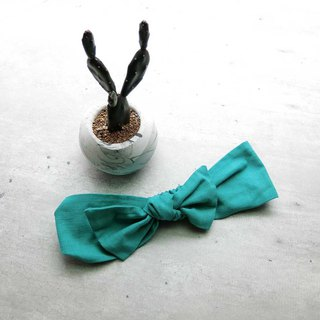 Mint green bow hair band