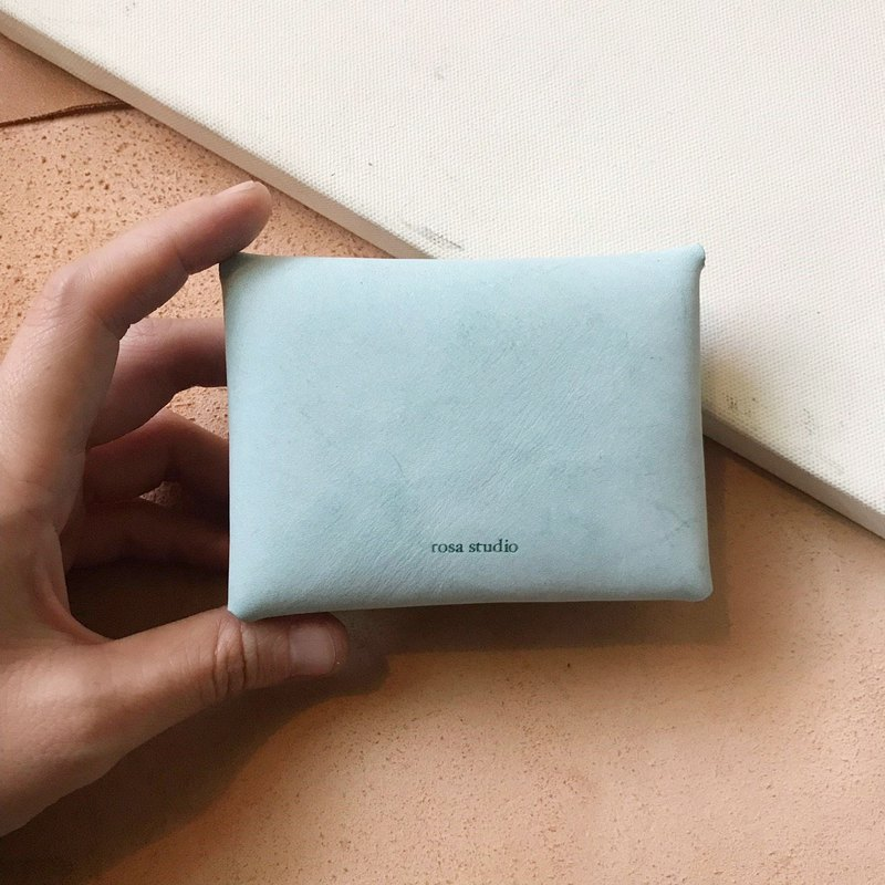 Envelope business card holder _ minimal version _ waxy mint green