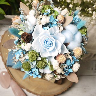 Cool breeze. Cool breeze blue. Birthday Mianwan dry flower gift preferred.