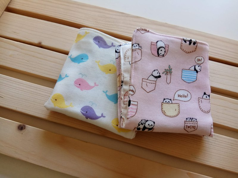 Miyue gift six-color yarn handkerchief square towel baby wash towel wipe sweat towel baby with small square towel
