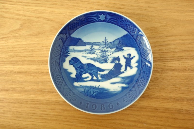 The Royal Danish brother root 1986 Christmas commemorative plate