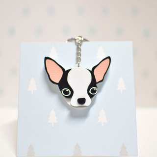 Chihuahua (Black) - Keyring - Pet Accessories - Pet Charm - Hairy Kids - Gifts - Custom - Acrylic - BU