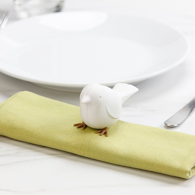 QUALY bird - napkin clip (white)