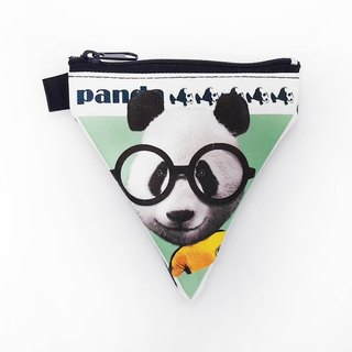 I AM PARTY triangle coin purse - Kung Fu Panda / buy to send brand badge or leisure card stickers x1