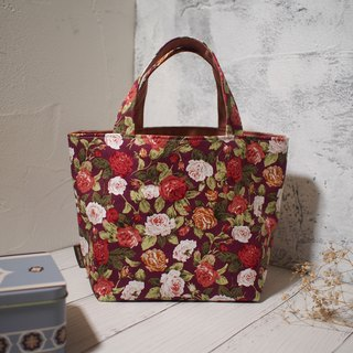 Every family wine series Bento bag / bag / limited hand bag / vintage roses / stock in