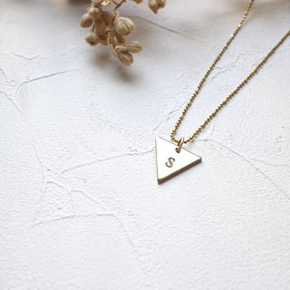 My symbol-Letter brass necklace