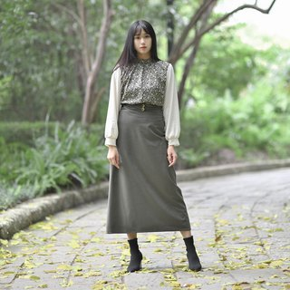 Mu Yan: High waist A word long dress