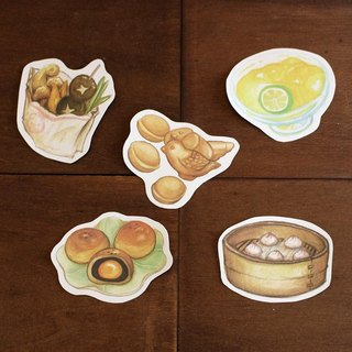 Taiwan gourmet waterproof stickers