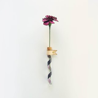 Wonder-Carnation Leather Hanging Bunch - Purple Dew - Mother's Day/Gift/Bouquet/Leather/Mom