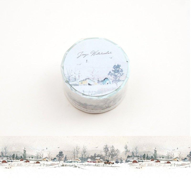 聖誕節雪景 | 啾吉水彩 手繪紙膠帶 貼紙 日本和紙 北歐插畫