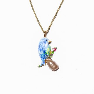 珐琅 珐琅 麻 Cute Sparrow Baroque pearl necklace sparrow baroque pearl Pre-order