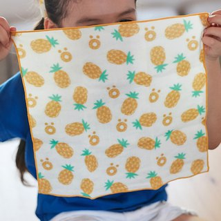 A lot of pineapple - organic cotton double yarn handkerchief