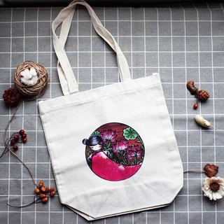 [Flower Girl] Lotus Fairy Canvas Bag