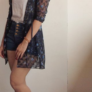The girl is a woman ─ through skin Floral Cardigan