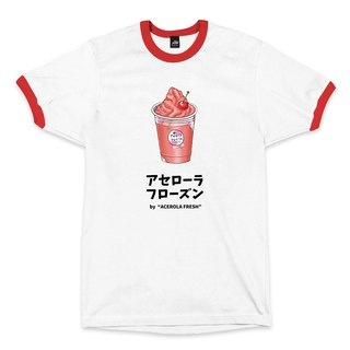 West Indian Cherry Smoothie - Rolled White/Red - Neutral T-Shirt