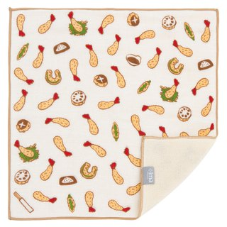 Japan Made + ima WAFUK Design, Soft, Cute & Unique Handkerchief towel - Tempura