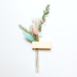 Mini garden square magnet hard maple flower pen insert limited edition plus dry flower can add purchase lettering
