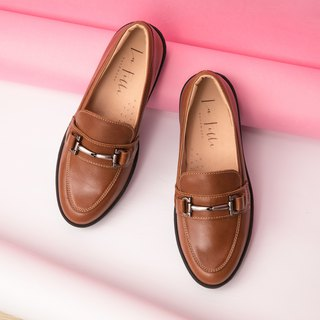 Silver Buckle Loafers _ Brown