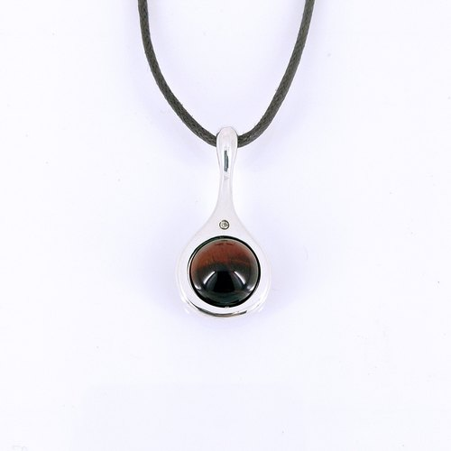 """Yun brewing rich"" │ red tiger eye corundum pure silver design models pendant"