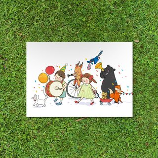 Wyatt still daily / Ilha Formosa! colorful carnival postcard ı Universal Card
