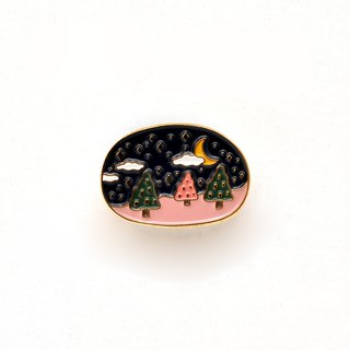 Sleeping Forest Romantic Brooch #3