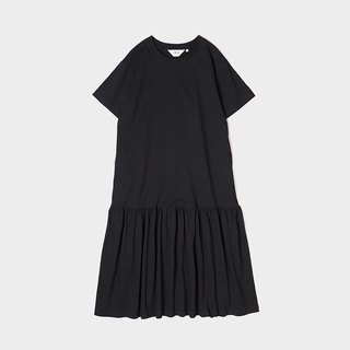 Cotton Knitted Loose Shoulder Low Waist Dress