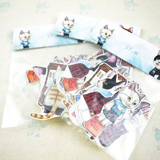 Queuing meow meow (cat) sticker