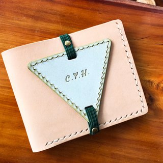 Finished product manufacturing - wallet with strap triangular bookmark original handmade leather bookmark vegetable tanned leather