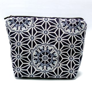 Large flat bottom zipper pouch /cosmetic bag (padded) (ZL-35)