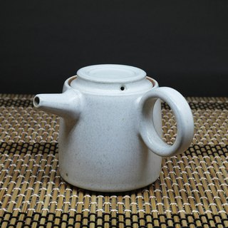 Cut mouth barrel body ring side teapot handmade pottery tea props