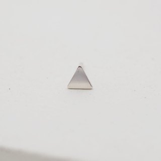 Simple design triangular sterling silver earrings (single in)