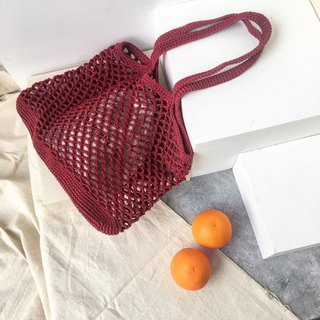 Burgundy Natalia Crochet bag