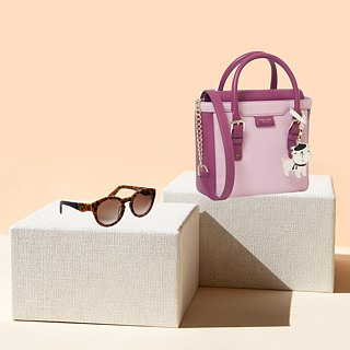 French Bulldog Dual Color Leather Small Tote