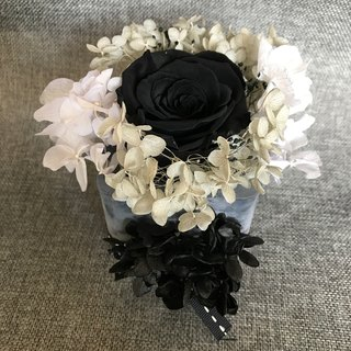 Not withered black roses soy wax incense brick