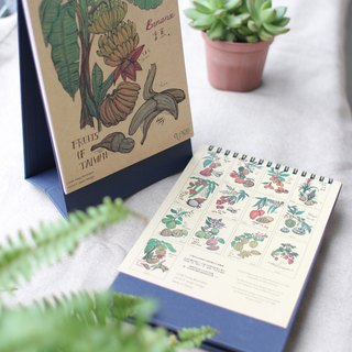 Botanical Fruits Desk Calendar