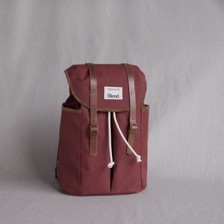 |Spanish handmade | Ölend Sienna canvas backpack (Bourdeaux Bordeaux red)