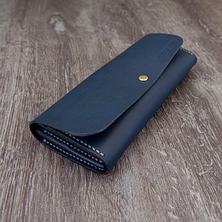 Be Two ∣ handmade leather long clip / leather wallet / zipper purse / double card (multicolor)