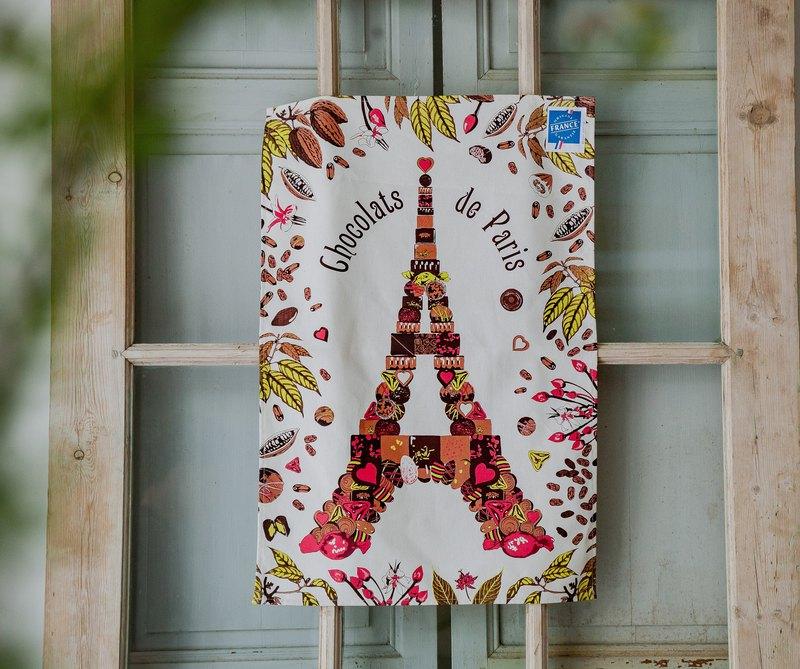 法國擦拭巾 / 巧克力艾菲爾掛巾
