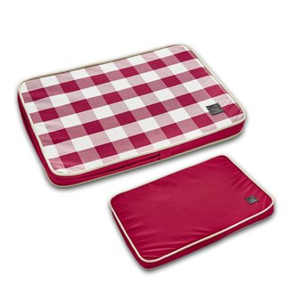 Lifeapp Pet Relief Sleeping Pad Large Plaid---S (Red White) W65 x D45 x H5 cm